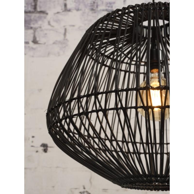 Lampe à suspension en rotin MADAGASCAR (noir) - image 45340