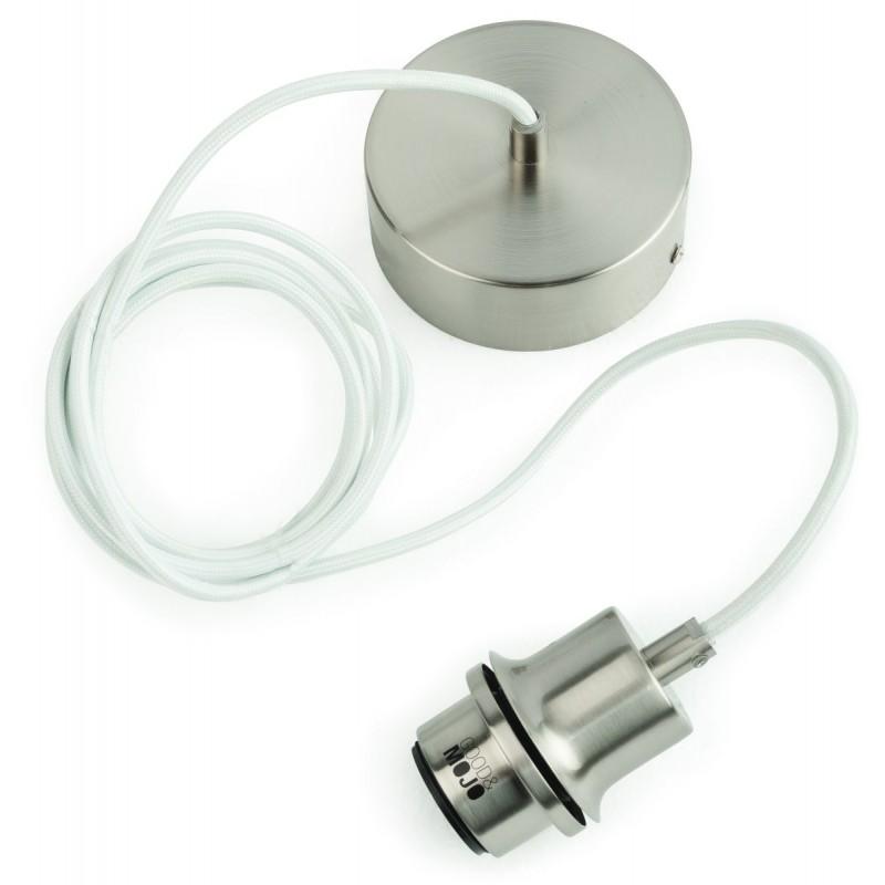 Lampe à suspension en bambou MEKONG plat (Ø 40 cm) (blanc, naturel) - image 45371