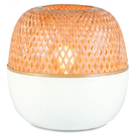 MEKONG SMALL bamboo table lamp (white, natural)
