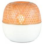 Lámpara de mesa de bambú MEKONG SMALL (blanco, natural)