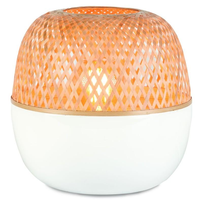 MEKONG SMALL bamboo table lamp (white, natural) - image 45394