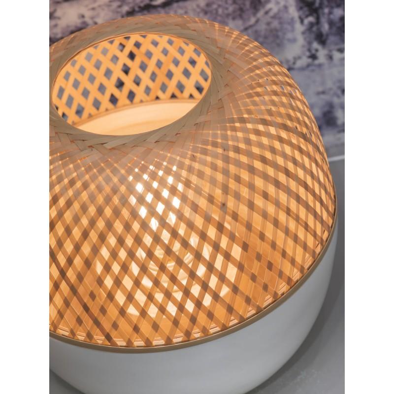 MEKONG SMALL bamboo table lamp (white, natural) - image 45397