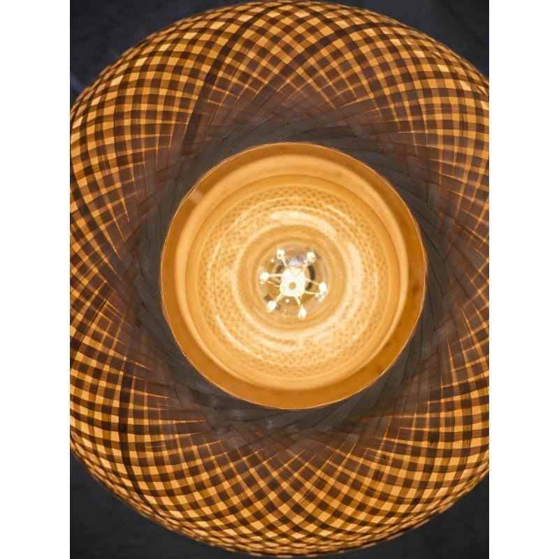 MEKONG SMALL bamboo table lamp (white, natural) - image 45398