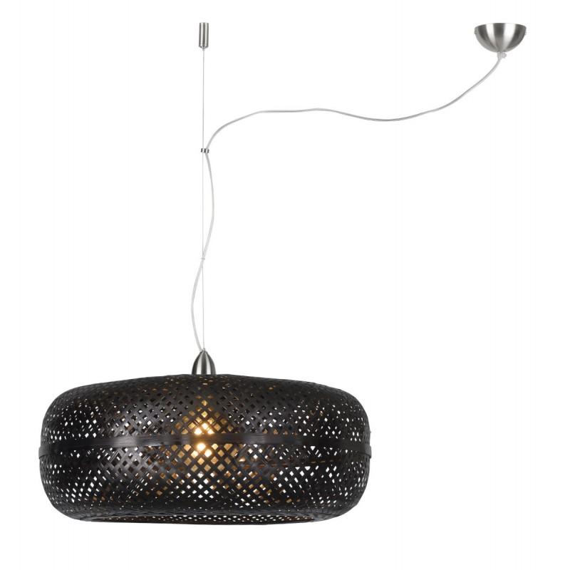 PALAWAN bamboo suspension lamp (black)
