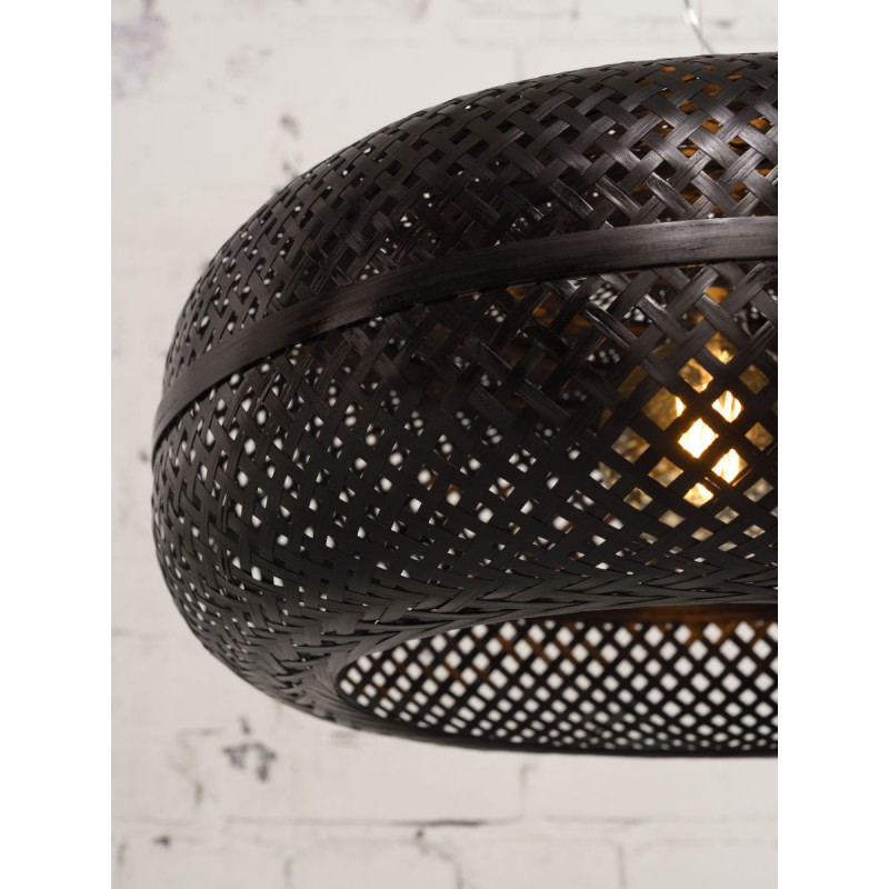 Lampe à suspension en bambou PALAWAN (noir) - image 45413