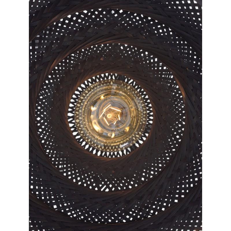 Lampada sospensione in bambù PALAWAN (nero) - image 45415
