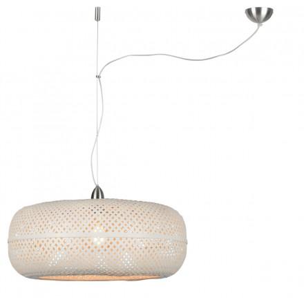 Lampe à suspension en bambou PALAWAN (blanc)