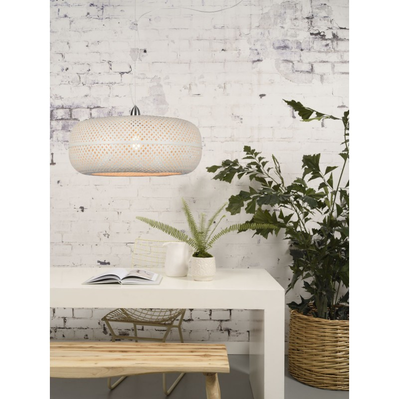PALAWAN bamboo suspension lamp (white) - image 45427