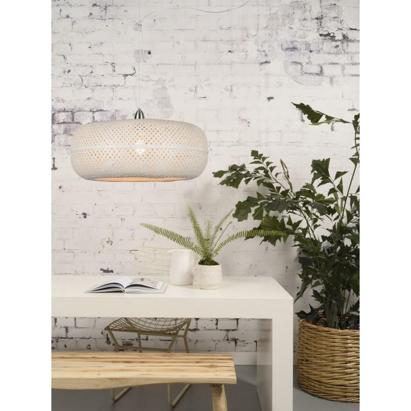 PALAWAN Bambus Hängeleuchte (weiß) - image 45427