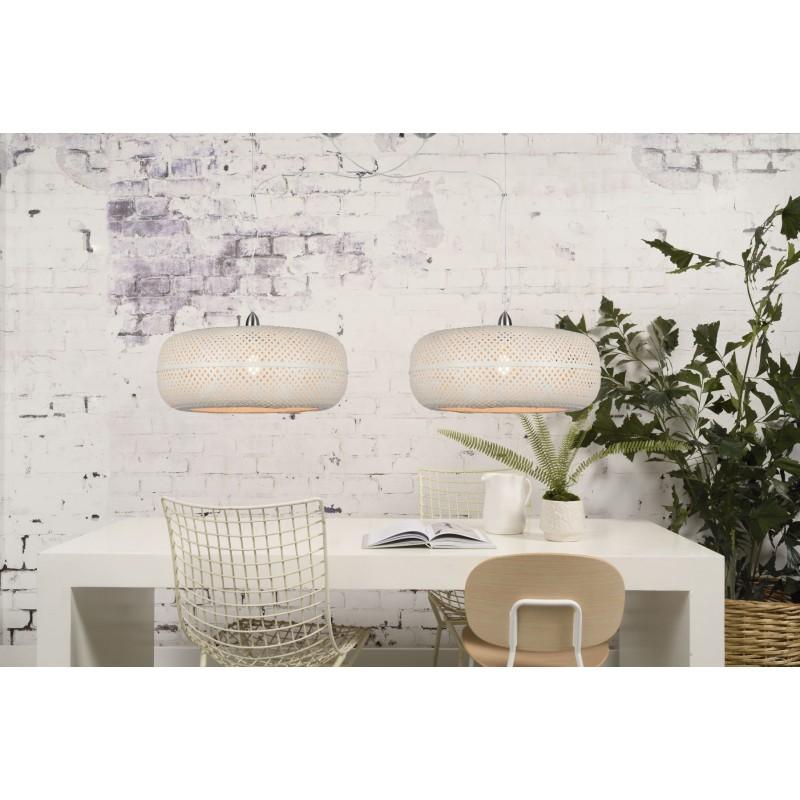 Lampe à suspension en bambou PALAWAN (blanc) - image 45428