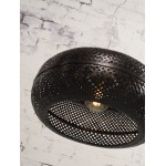 PALAWAN bamboo suspension lamp 2 lampshades (black)