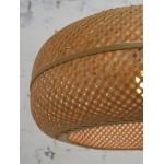 PALAWAN bamboo suspension lamp 2 lampshades (natural)