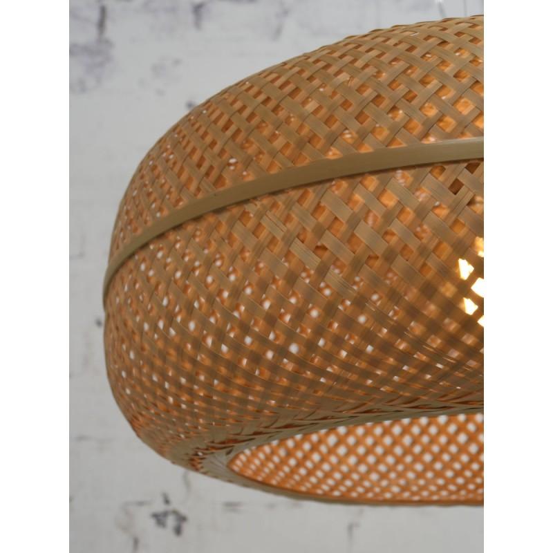 PALAWAN Bambus Hängeleuchte 2 Lampenschirme (natürlich) - image 45452