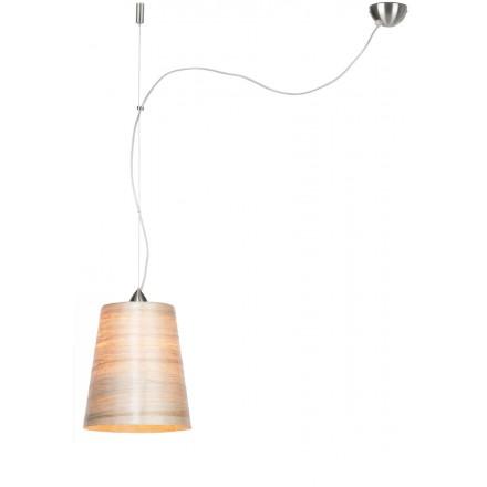 Suspension lamp in abaca SAHARA MEDIUM 1 shade (natural)