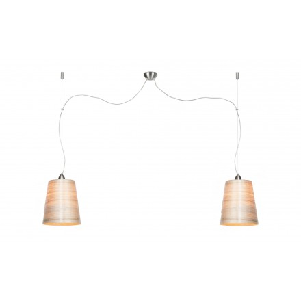 Lampe à suspension en abaca SAHARA MEDIUM 2 abat-jours (naturel)
