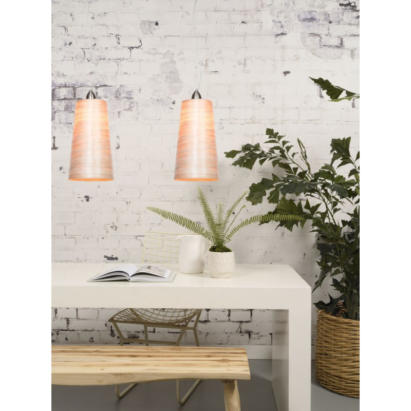 Lampe à suspension en abaca SAHARA XL (naturel) - image 45516