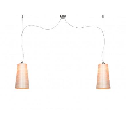 Lampe à suspension en abaca SAHARA XL 2 abat-jours (naturel)