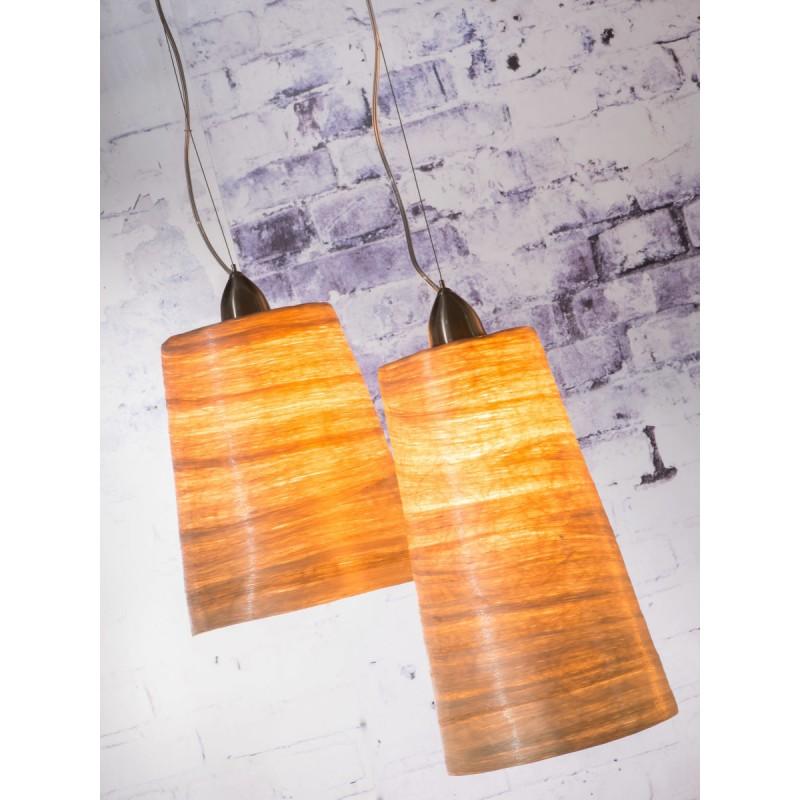 Lampe à suspension en abaca SAHARA XL 2 abat-jours (naturel) - image 45521