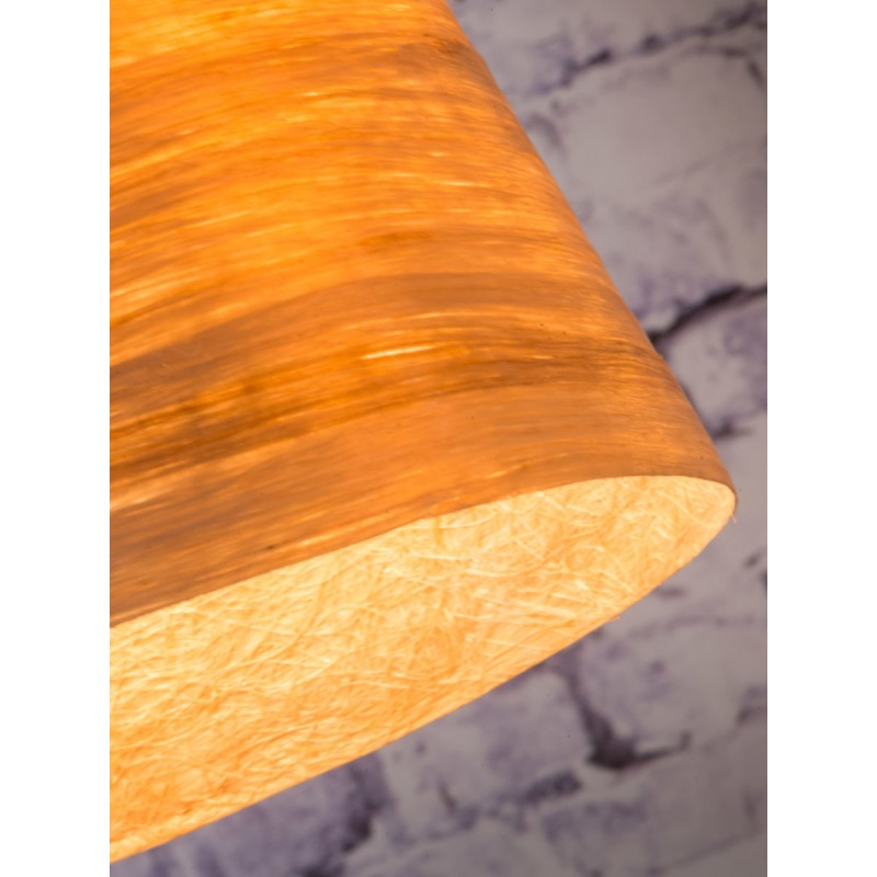 SUSPENSION Lampe in abaca SAHARA XL 2 Lampenschirme (natürlich) - image 45522