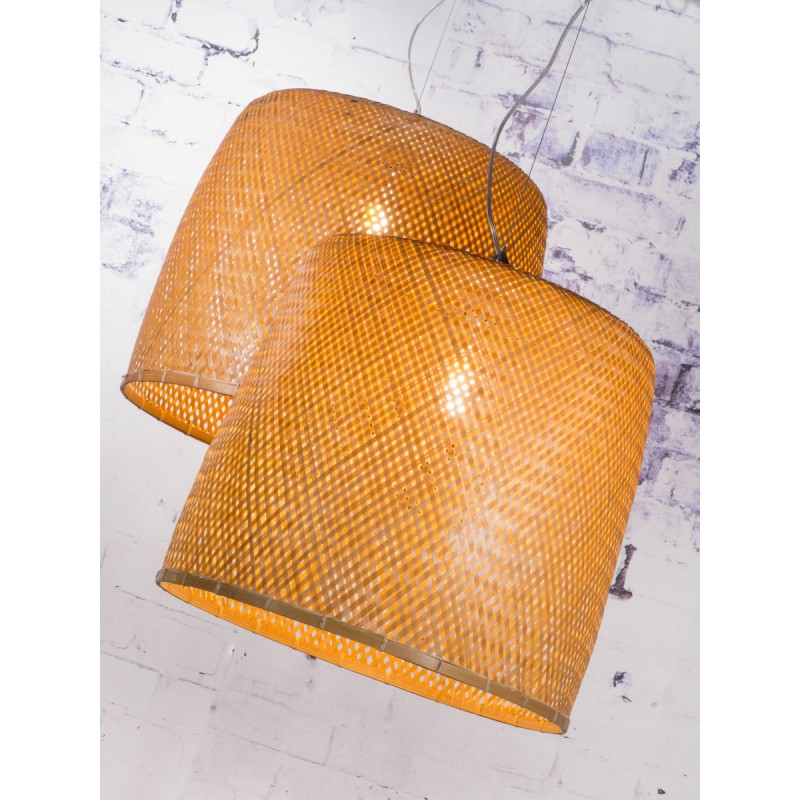 SERENGETI lampada sospensione bambù 1 paralume (naturale) - image 45555