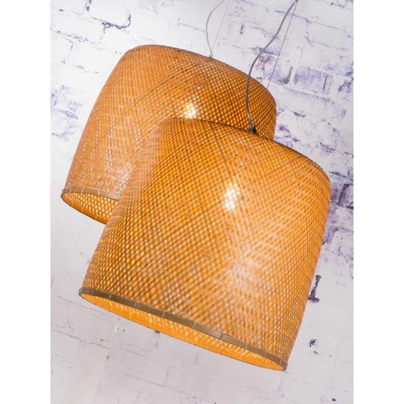Lámpara de suspensión de bambú SERENGETI 1 pantalla (natural) - image 45555