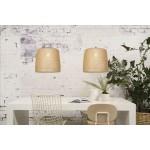 Lámpara de suspensión de bambú SERENGETI 1 pantalla (natural)