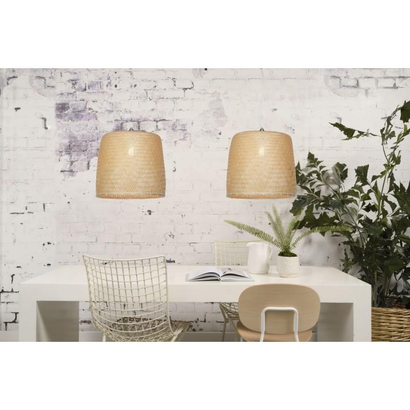 SERENGETI Bambus Hängeleuchte 1 Lampenschirm (natürlich) - image 45563