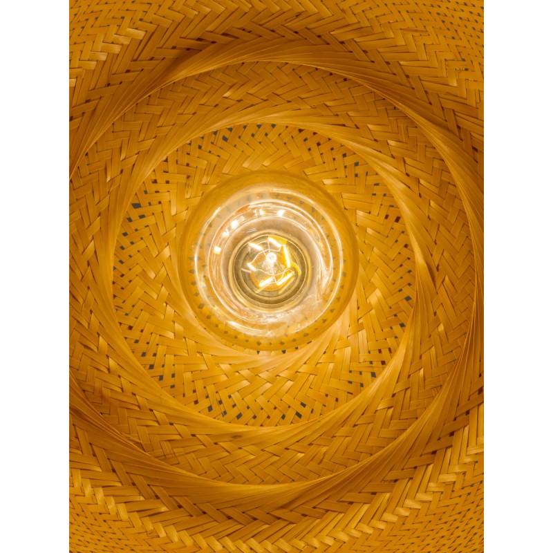Bamboo suspension lamp SERENGETI 2 lampshades (natural) - image 45568