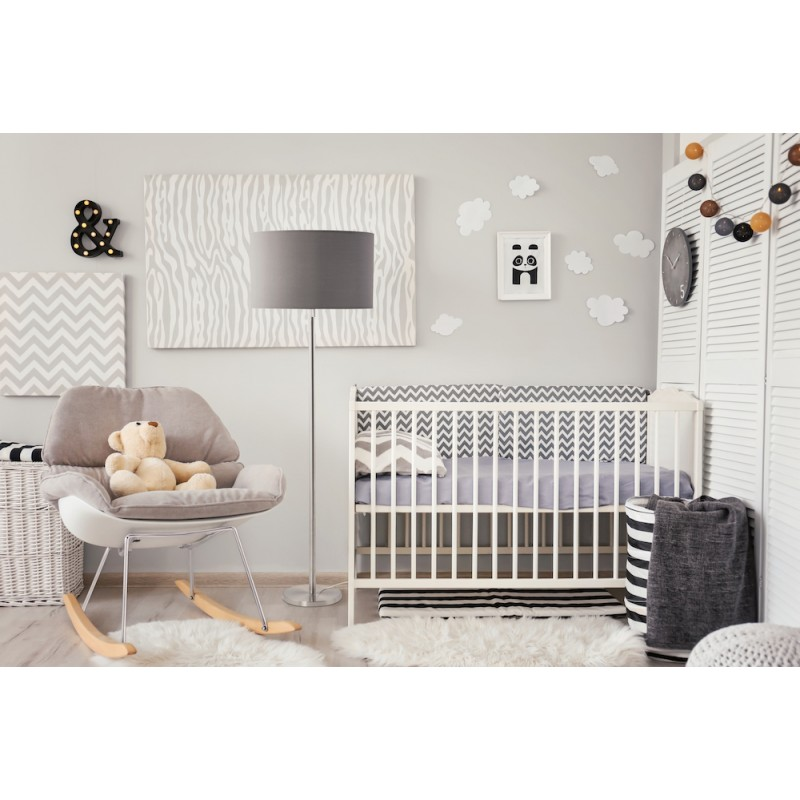 Fauteuil lounge à bascule JADE en tissu (gris clair) - image 45575