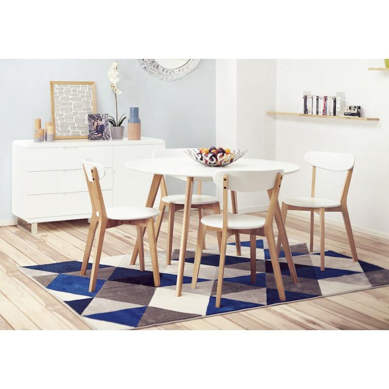 Diseño silla estilo madera ANTICUADOS escandinavo (blanco) - image 45579