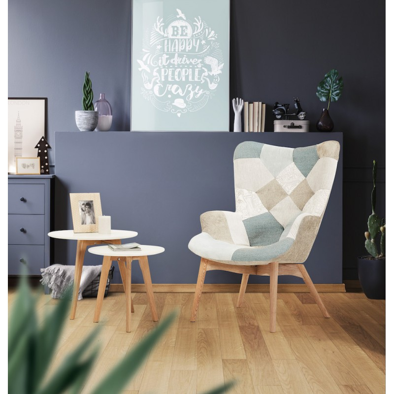 Tables basses design gigognes ART en bois et chêne massif (blanc) - image 45581