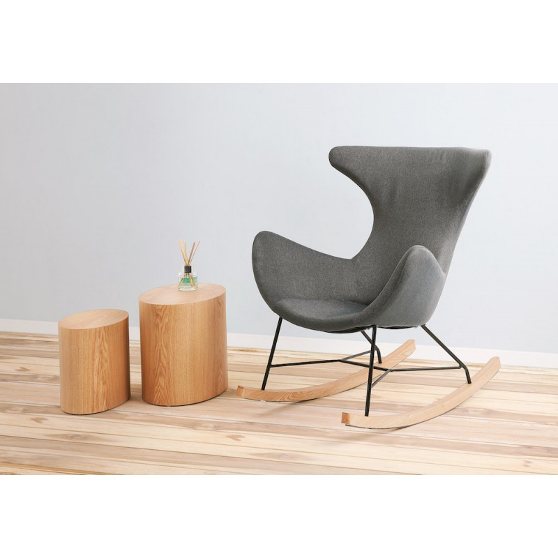 Rocking chair KABOSU en tissu (gris clair) - image 45582