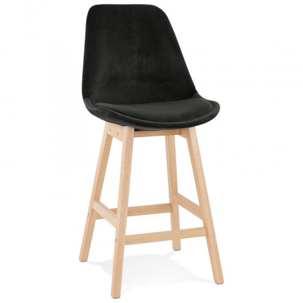 Pad a barre a media altezza Design scandinavo in piedi di colore naturale CAMY MINI (nero)