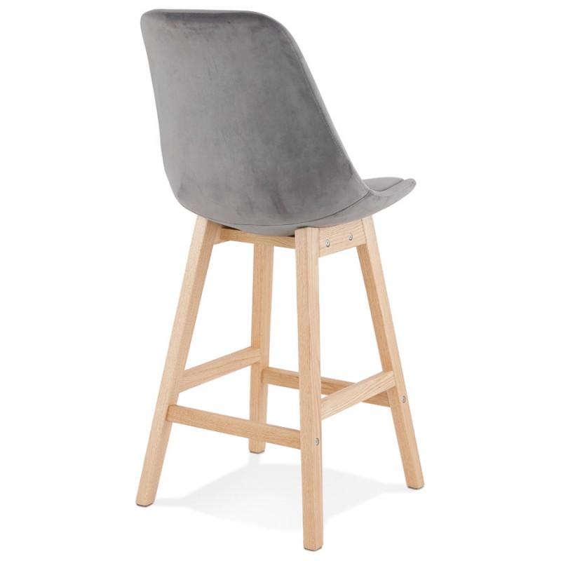 Almohadilla de barra de altura media Diseño escandinavo en pies de color natural CAMY MINI (gris) - image 45615