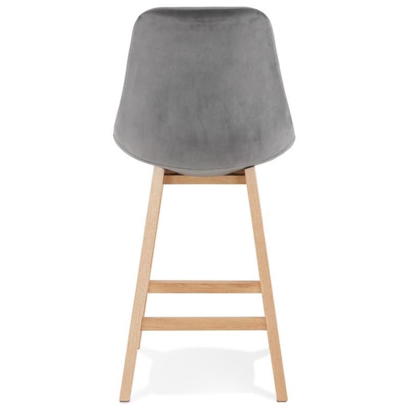 Almohadilla de barra de altura media Diseño escandinavo en pies de color natural CAMY MINI (gris) - image 45616