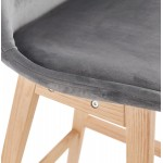 Skandinavisches Design Barhocker in naturfarbenen Füßen CAMY (grau)