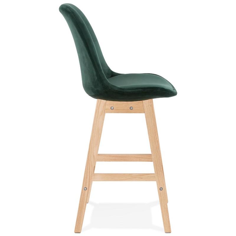 Almohadilla de barra de altura media Diseño escandinavo en pies de color natural CAMY MINI (verde) - image 45636