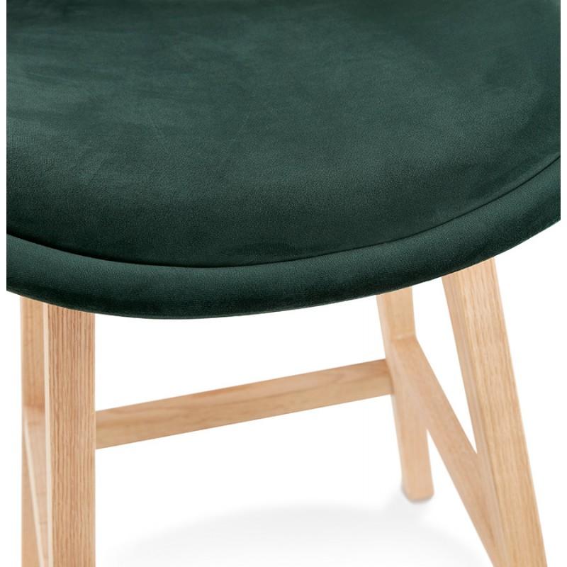 Almohadilla de barra de altura media Diseño escandinavo en pies de color natural CAMY MINI (verde) - image 45640