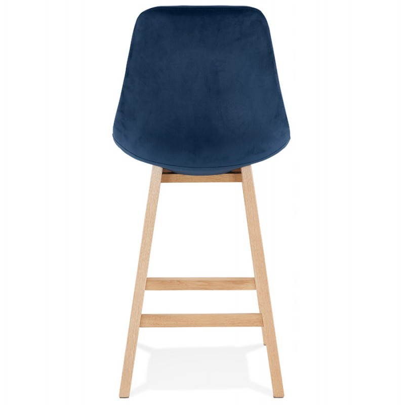 Mid-height bar pad Scandinavian design in natural-colored feet CAMY MINI (blue) - image 45658