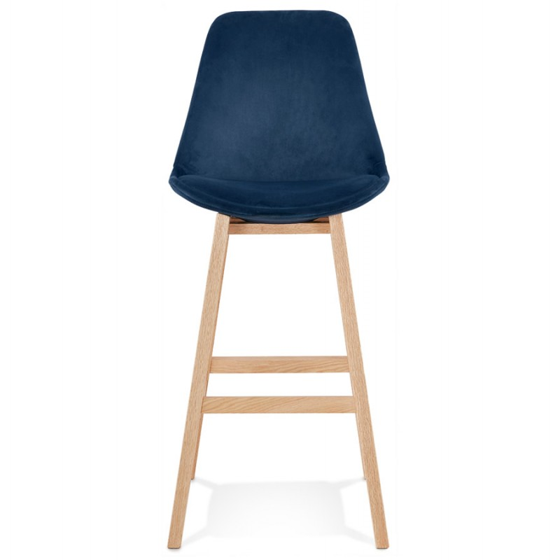 Scandinavian design bar stool in natural-colored feet CAMY (blue) - image 45665