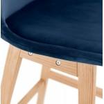 Skandinavisches Design Barhocker in naturfarbenen Füßen CAMY (blau)