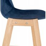Scandinavian design bar stool in natural-colored feet CAMY (blue)