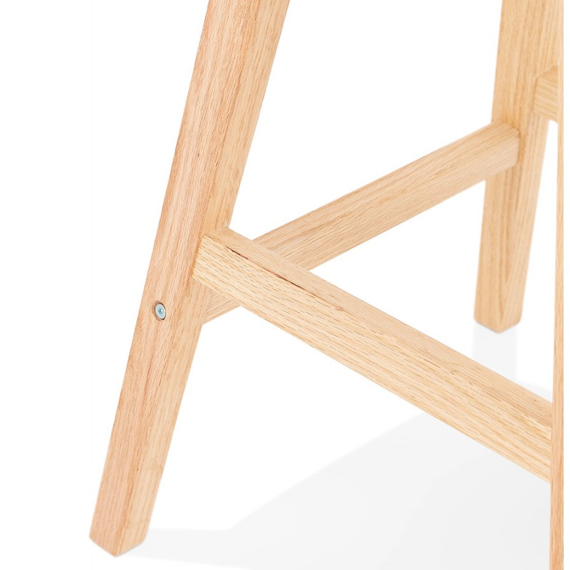 Scandinavian design bar stool in microfiber feet natural color LILY (dark grey) - image 45716