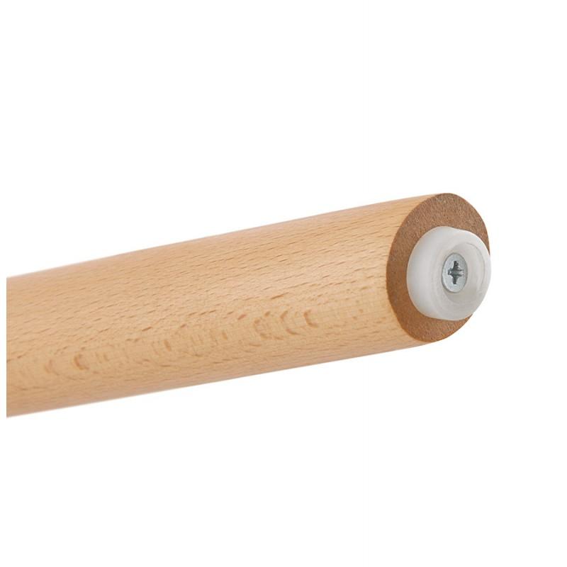 Tabouret de bar mi-hauteur scandinave en microfibre pieds bois couleur naturelle TALIA MINI (marron) - image 45752