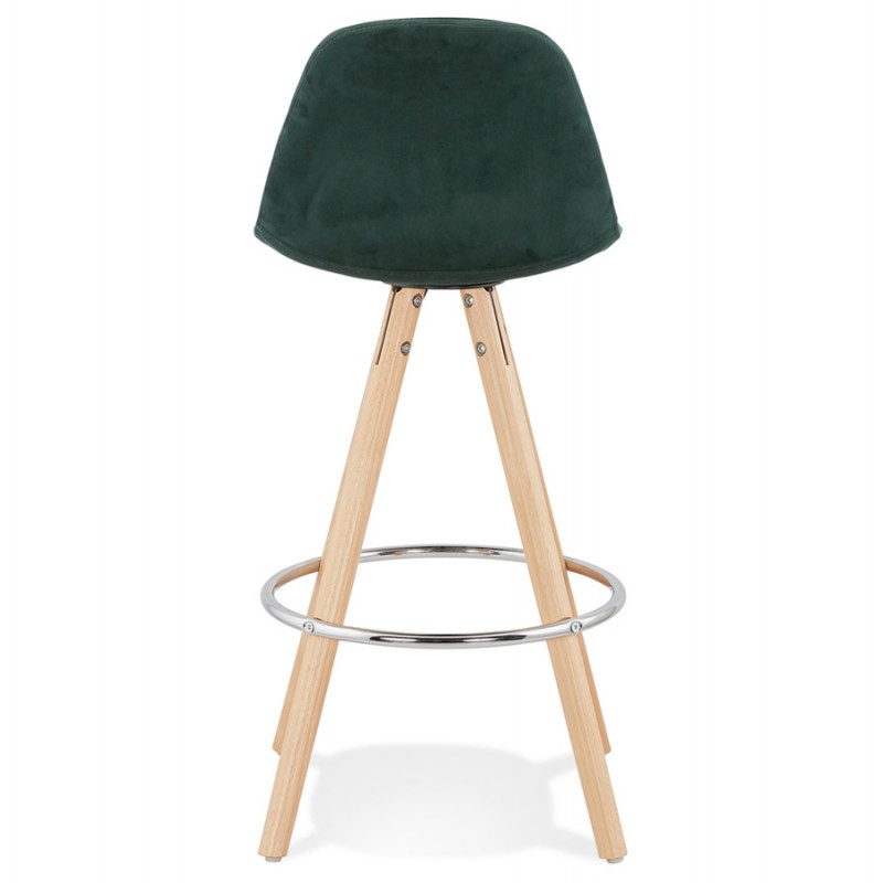 Scandinavian mid-height bar bar set in velvet feet natural-colored wooden MERRY MINI (green) - image 45783