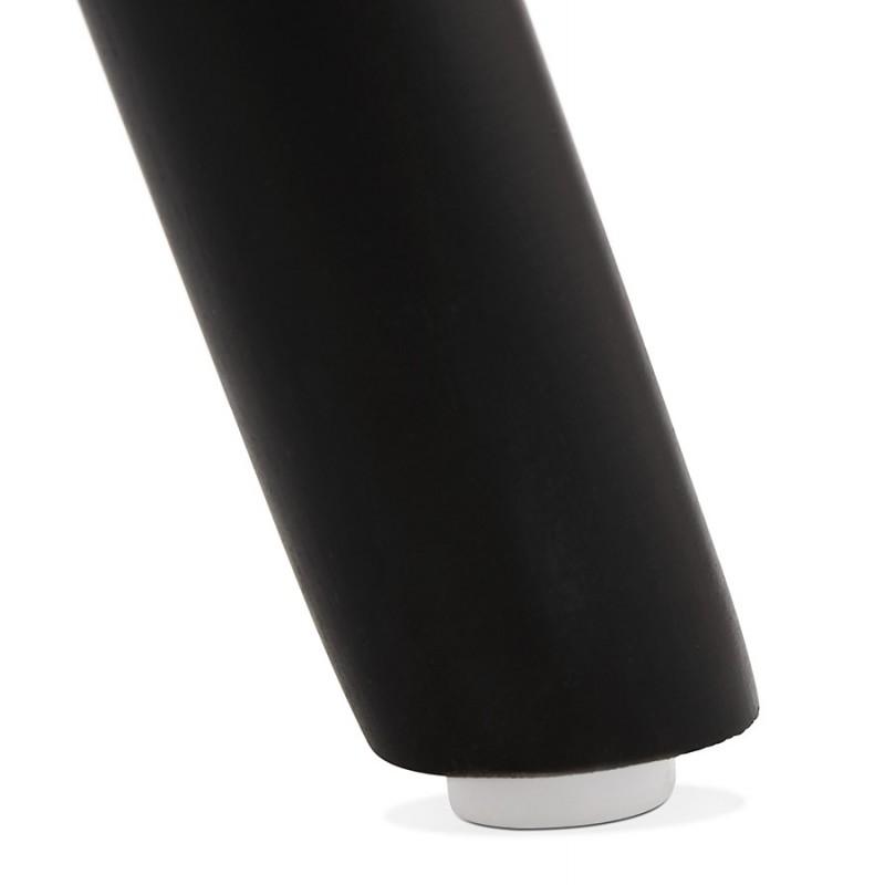 Tabouret de bar design en velours pieds bois noir MERRY (bleu) - image 46016