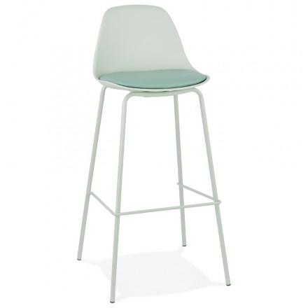 Industrie Bar Stuhl Bar Set von oceanE hellgrüne Füße (hellgrün)
