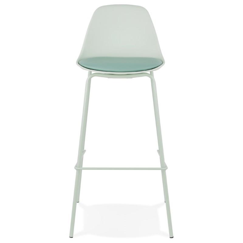 Tabouret de bar chaise de bar industriel pieds vert clair OCEANE (vert clair) - image 46029