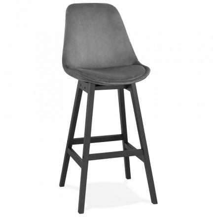 CAMY nero piede velluto bar set (grigio)
