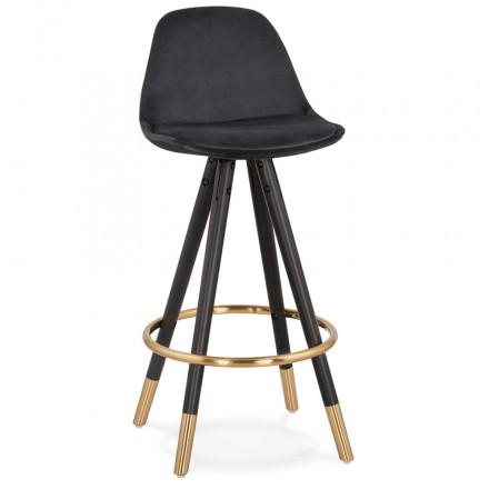 Design del set bar a media altezza in velluto nero e oro NEKO MINI piedi (nero)
